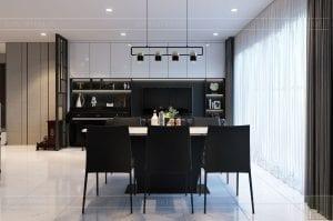 thiết kế căn hộ de capella - phòng khách bếp 7
