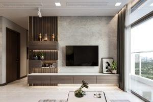 thiết kế nội thất căn hộ hiện đại - phòng khách 2