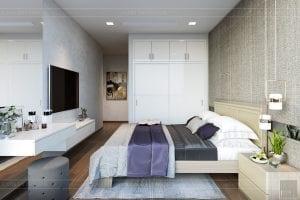 thiết kế nội thất căn hộ hiện đại - phòng ngủ master 3