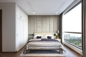 thiết kế nội thất căn hộ hiện đại - phòng ngủ master 2