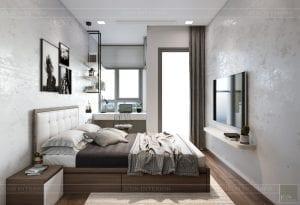 thiết kế nội thất căn hộ hiện đại - phòng ngủ 2