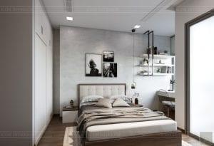 thiết kế nội thất căn hộ hiện đại - phòng ngủ 1