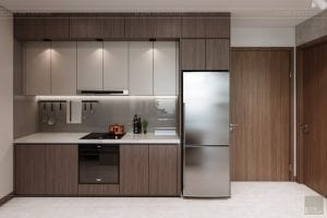 thiết kế nội thất căn hộ hiện đại - phòng bếp