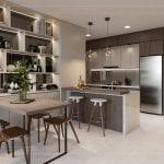 thiết kế nội thất căn hộ hiện đại - phòng ăn 1