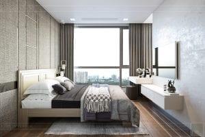 thiết kế nội thất căn hộ hiện đại - phòng ngủ master 1