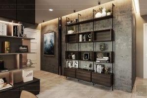 thiết kế nội thất căn hộ vinhomes ba son -tiền sảnh 3