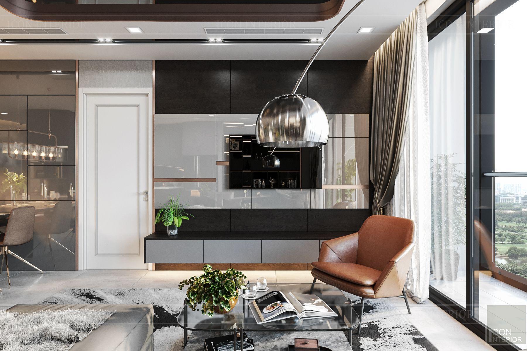thiết kế nội thất căn hộ vinhomes ba son - phòng khách 5
