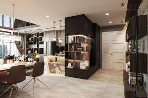thiết kế nội thất căn hộ vinhomes ba son - tiền sảnh1