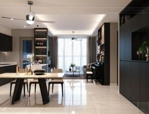 thiết kế nội thất sarica sala - phòng khách bếp 1