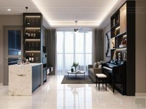 thiết kế nội thất sarica sala - phòng khách bếp 2