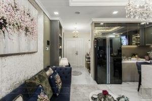 thi công căn hộ chung cư landmark 81 - phòng khách bếp 9