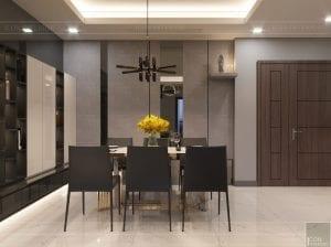 thiết kế căn hộ chung cư landmark 81 - phòng khách bếp 11