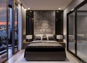 thiết kế căn hộ chung cư landmark 81 - phòng ngủ 2