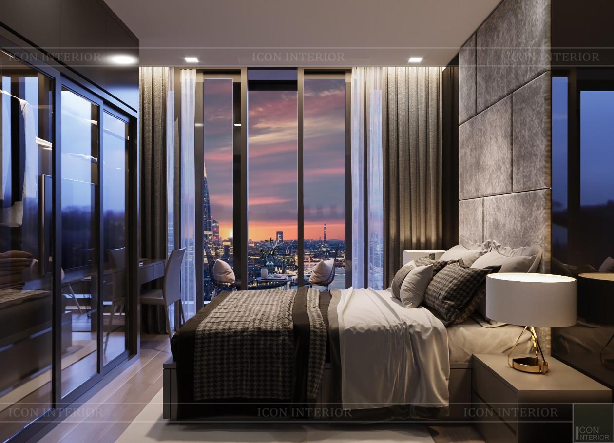 thiết kế căn hộ chung cư landmark 81 - phòng ngủ 1