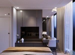 thiết kế căn hộ chung cư landmark 81 - phòng ngủ master 3