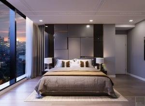 thiết kế căn hộ chung cư landmark 81 - phòng ngủ master 2