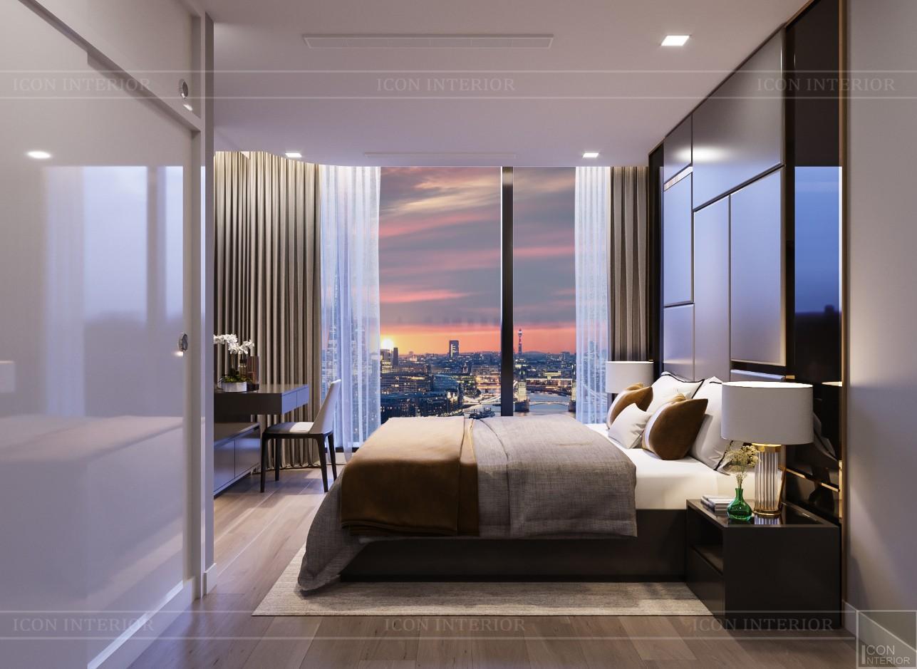 thiết kế căn hộ chung cư landmark 81 - phòng ngủ master 1