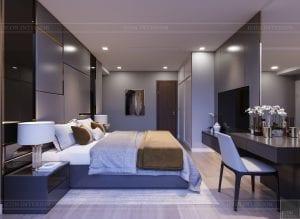 thiết kế căn hộ chung cư landmark 81 - phòng ngủ master 4