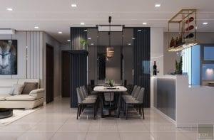 căn hộ estella heights - phòng khách bếp 6