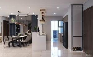 căn hộ estella heights - phòng khách bếp 5