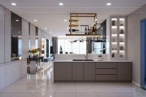 căn hộ estella heights - phòng khách bếp 4