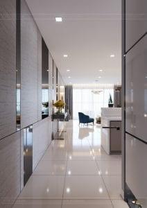 căn hộ estella heights - phòng khách bếp 1