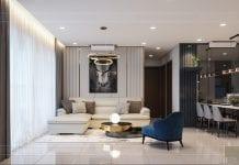 căn hộ estella heights - phòng khách bếp 8