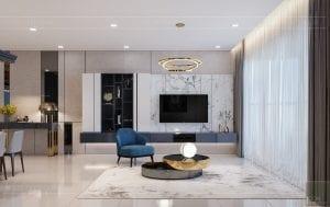căn hộ estella heights - phòng khách bếp 9