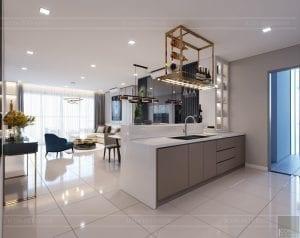 căn hộ estella heights - phòng khách bếp 3