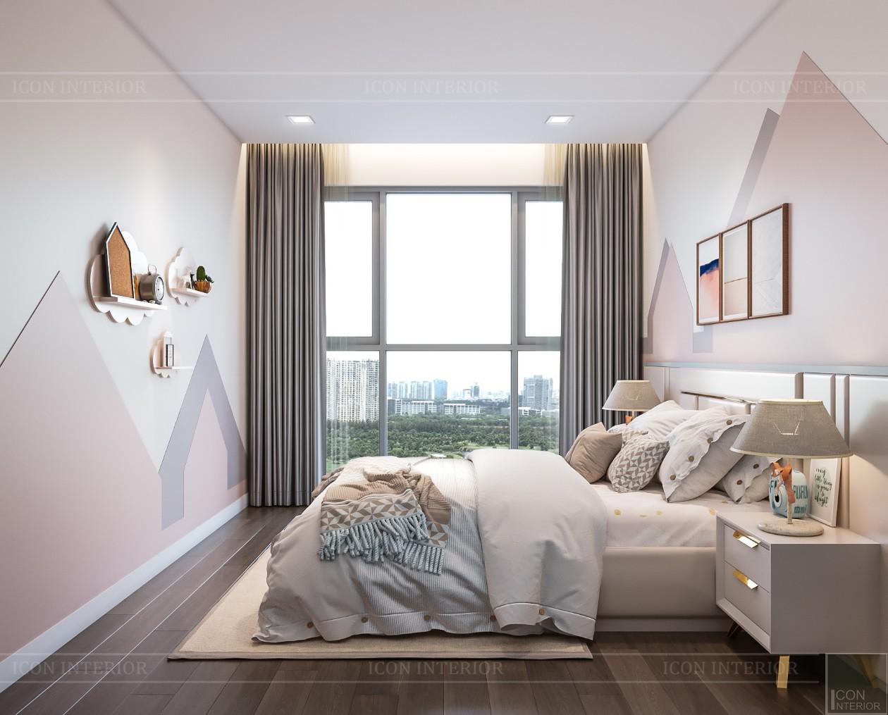 phòng ngủ bé gái căn hộ estella heights