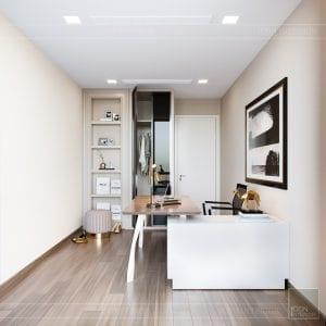 Thiết kế nội thất căn hộ Park 1 Vinhomes Central Park - phòng làm việc 4