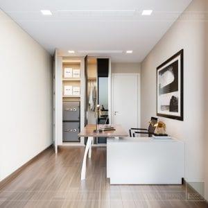 Thiết kế nội thất căn hộ Park 1 Vinhomes Central Park - phòng làm việc 3