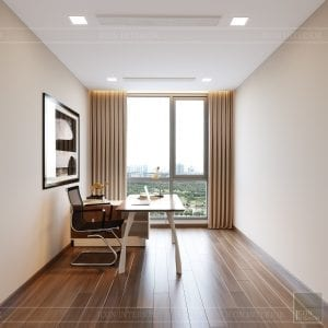 Thiết kế nội thất căn hộ Park 1 Vinhomes Central Park - phòng làm việc 2