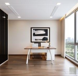 Thiết kế nội thất căn hộ Park 1 Vinhomes Central Park - phòng làm việc 1