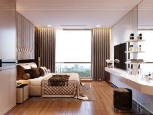 Thiết kế nội thất căn hộ Park 1 Vinhomes Central Park - phòng ngủ master 3