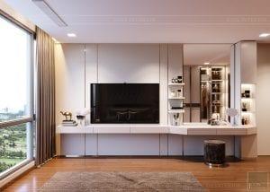 Thiết kế nội thất căn hộ Park 1 Vinhomes Central Park - phòng ngủ master 5