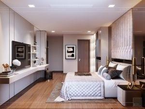 Thiết kế nội thất căn hộ Park 1 Vinhomes Central Park - phòng ngủ master 4