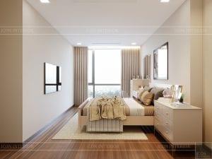 Thiết kế nội thất căn hộ Park 1 Vinhomes Central Park - phòng ngủ nhỏ 4