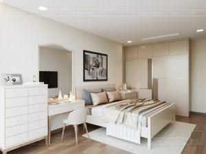 Thiết kế nội thất căn hộ Park 1 Vinhomes Central Park - phòng ngủ nhỏ 3