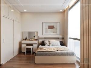 Thiết kế nội thất căn hộ Park 1 Vinhomes Central Park - phòng ngủ nhỏ 1