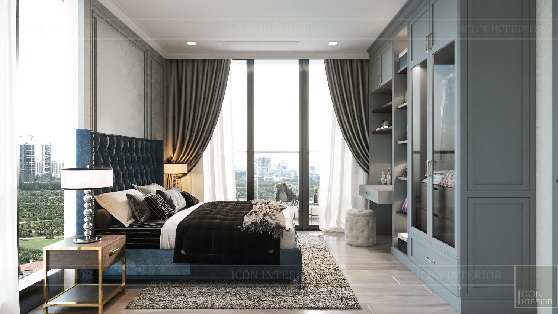 Thiết kế nội thất nhà chung cư 100m2 Vinhomes Bason phòng ngủ