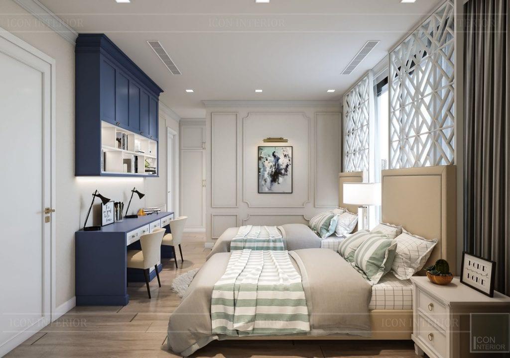 Thiết kế nội thất nhà chung cư 100m2 Vinhomes Bason phòng ngủ trẻ em