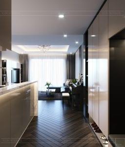 chung cư estella heights quận 2 - phòng khách bếp 1