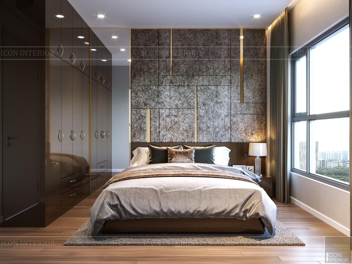 Thiết kế chung cư 70m2 đẹp Estella Heights quận 2 - phòng ngủ
