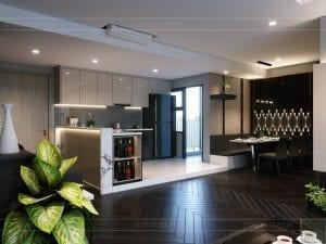 chung cư estella heights quận 2 - phòng khách bếp 2