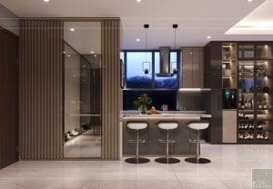 thiết kế nội thất hiện đại - phòng khách bếp 13