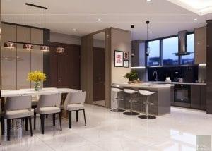 thiết kế nội thất hiện đại - phòng khách bếp 8