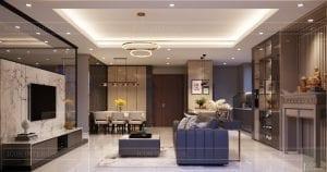 thiết kế nội thất hiện đại - phòng khách bếp 5