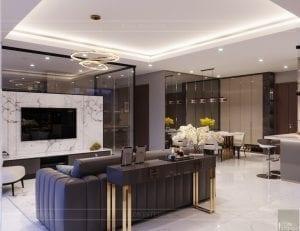 thiết kế nội thất hiện đại - phòng khách bếp 6
