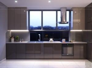 thiết kế nội thất hiện đại - phòng khách bếp 10